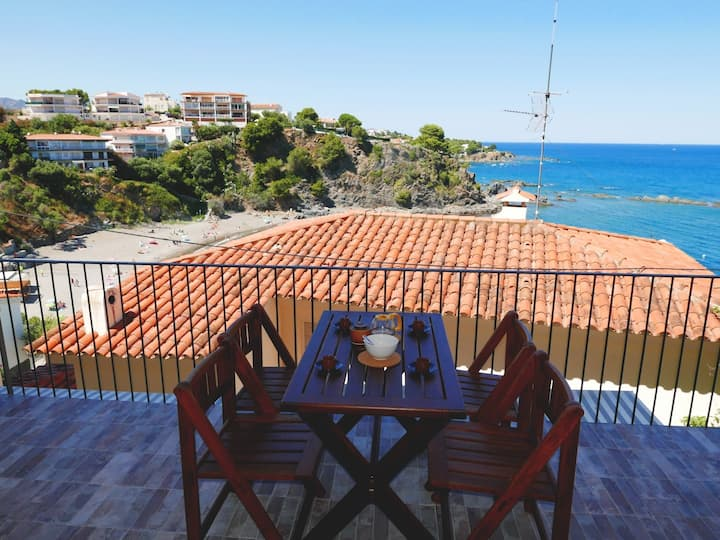 112 Apartment completely renovated, with terrace, sea views and next to the beach