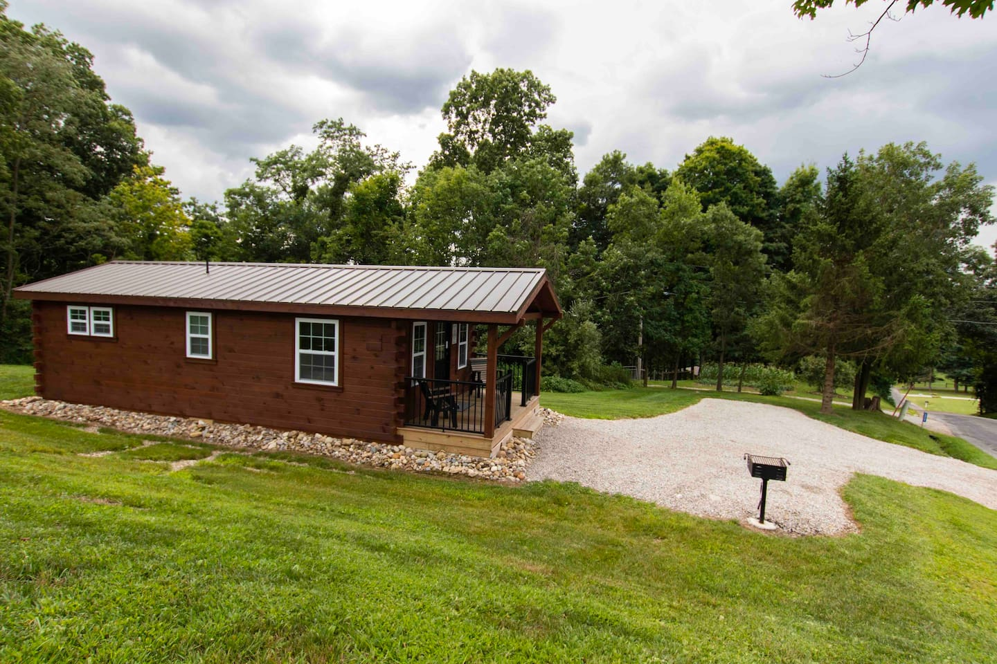 Cabin, right off of the Township Road.