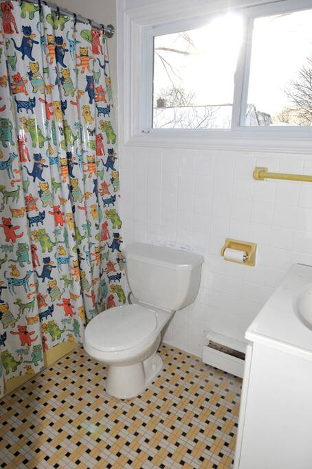 main floor bathroom w tub/shower