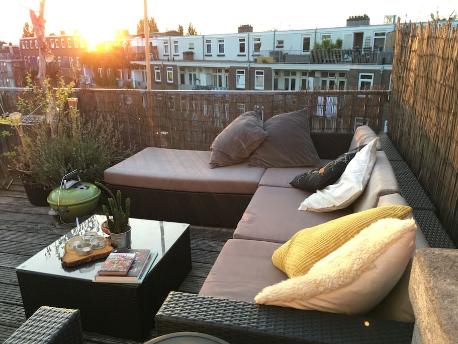 Rooftop terrace with BBQ