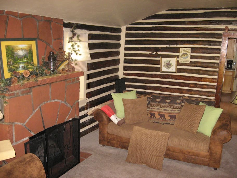 Franci & Corky's Fireside Room - electric heater/fireplace
