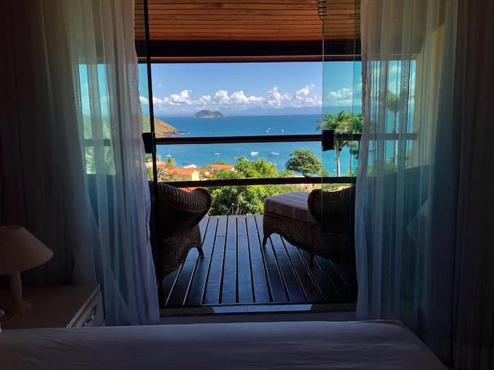 Casa vista espetacular mar Búzios João Fernandes
