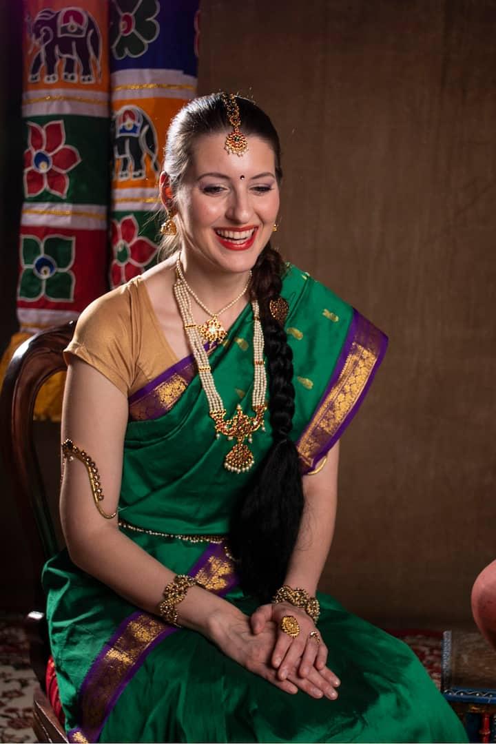 Adorn a gorgeous silk saree