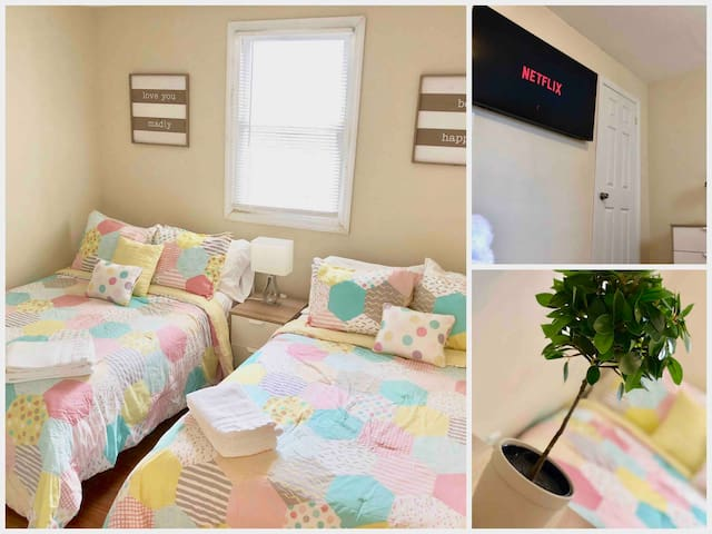 """Private Room with 50"""" TV that sleeps 4"""