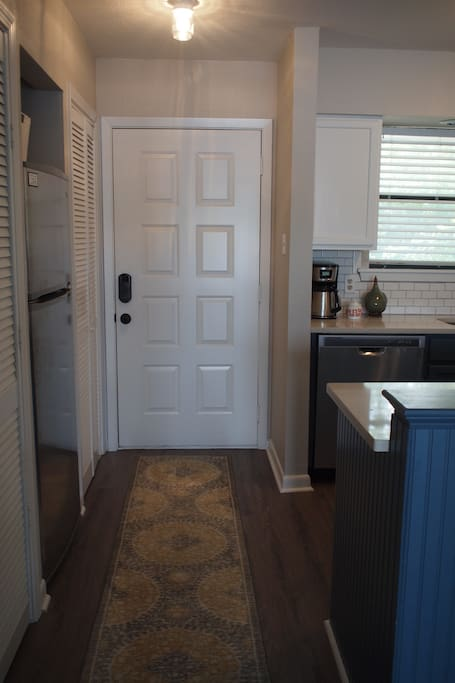 Entryway into the kitchen