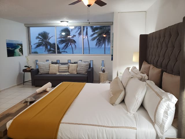Condado Ocean view King bed studio parking wifi