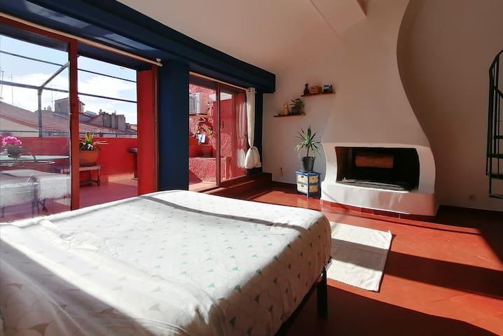 Grand Duplex avec terrasse,centre ville Perpignan