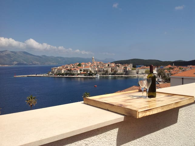 Apartment MAGO with stunning view - Korčula - Huoneisto