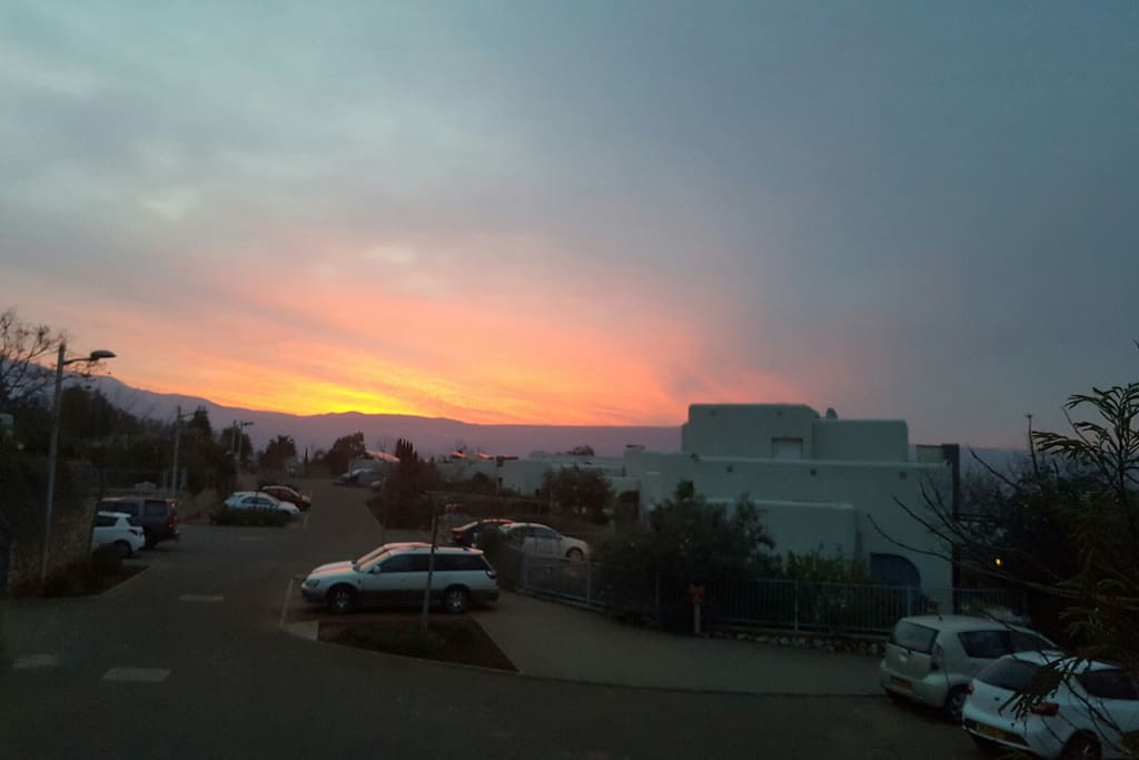 The street view in sunrise