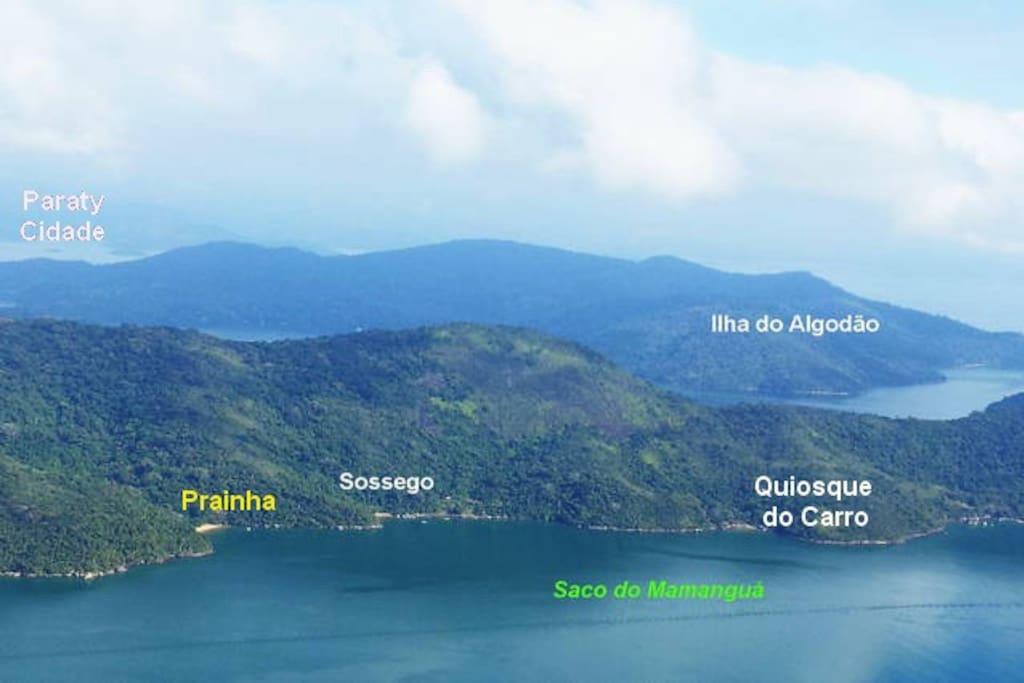 Vista aérea da Prainha