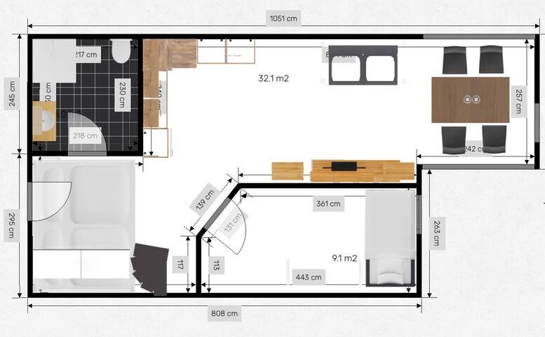 Helle, zentrale 2-2,5 Zimmerwohnung Dachgeschoss