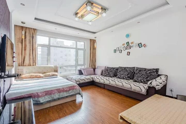 【双空调】鲅鱼圈山海广场海雅民宿90平两室一厅