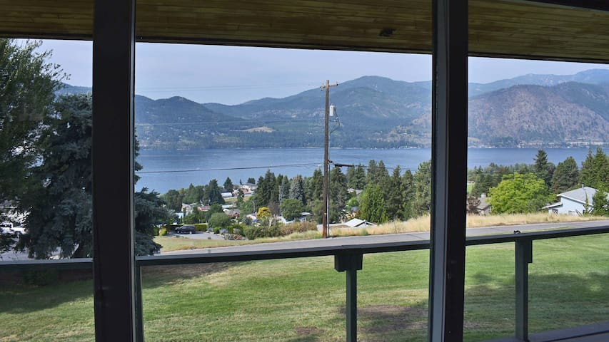View from the living room of gorgeous Lake Chelan