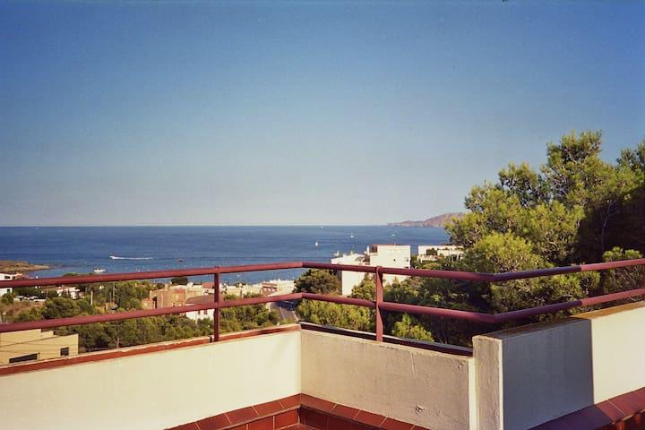 Vistas, amplia terraza,luminoso y con garage - Llançà - Lägenhet
