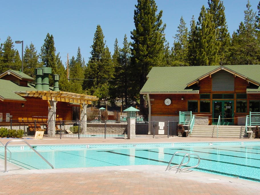Take a dip in the shared pool -- open for lap and recreational swimming.