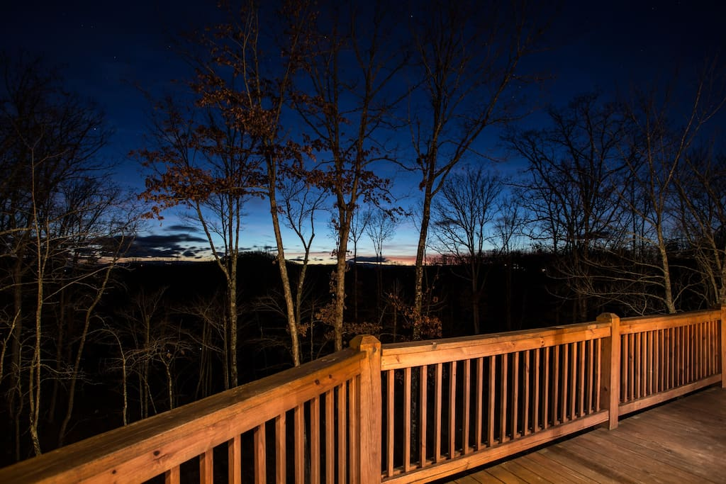 Sunset view from entry level deck