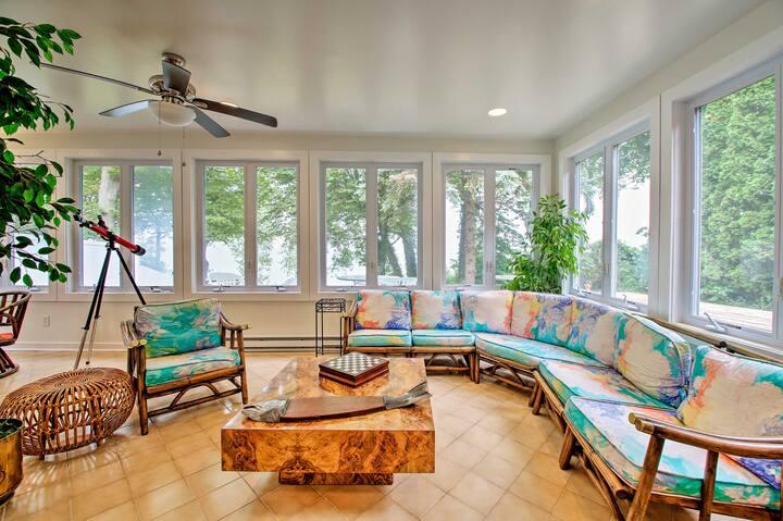 Renovated Home w/Lake Michigan View, Private Beach