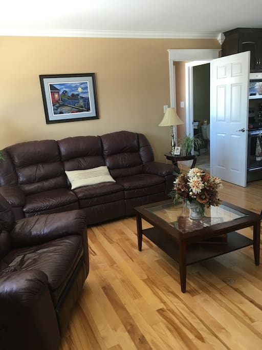 Relax in reclining sofa and chair in the Sitting room