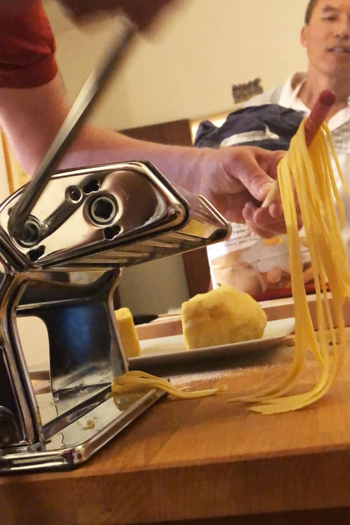 We use traditional pasta machine