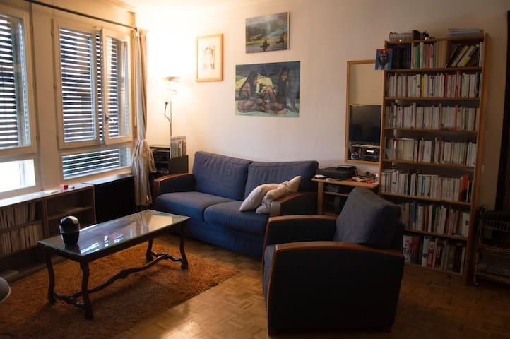 Spacious flat. Kitchen&living room. Geneva center - Genève - Leilighet