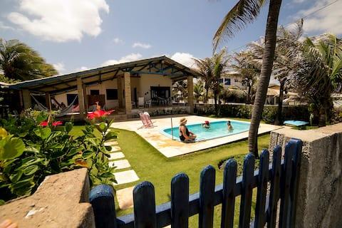 Casa de praia de frente ao mar.