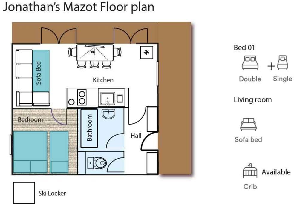 Floor plan of Mazot