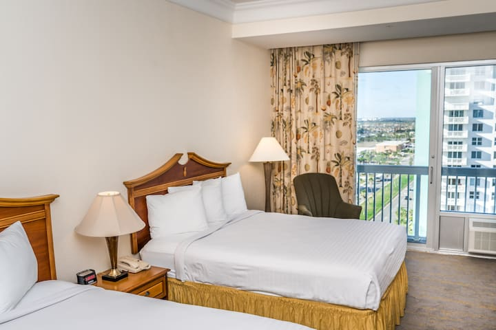 Daytona Beach Resort - Ocean View Executive Standard - 2 Queen Beds · Sleeps (4)