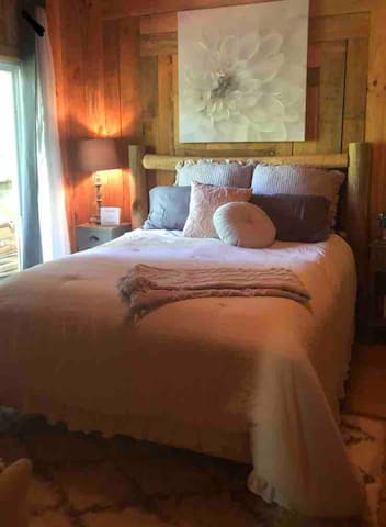 Your bedroom always with 1800 count sheets. Very comfortable! Also black out curtains for a restful nights sleep.