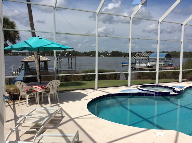 Sunset Bay House with private pool and dock - New Smyrna Beach
