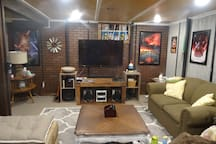 Large TV with surround available for use