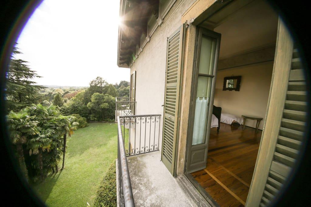 vista da uno dei balconi della Suite Gioia