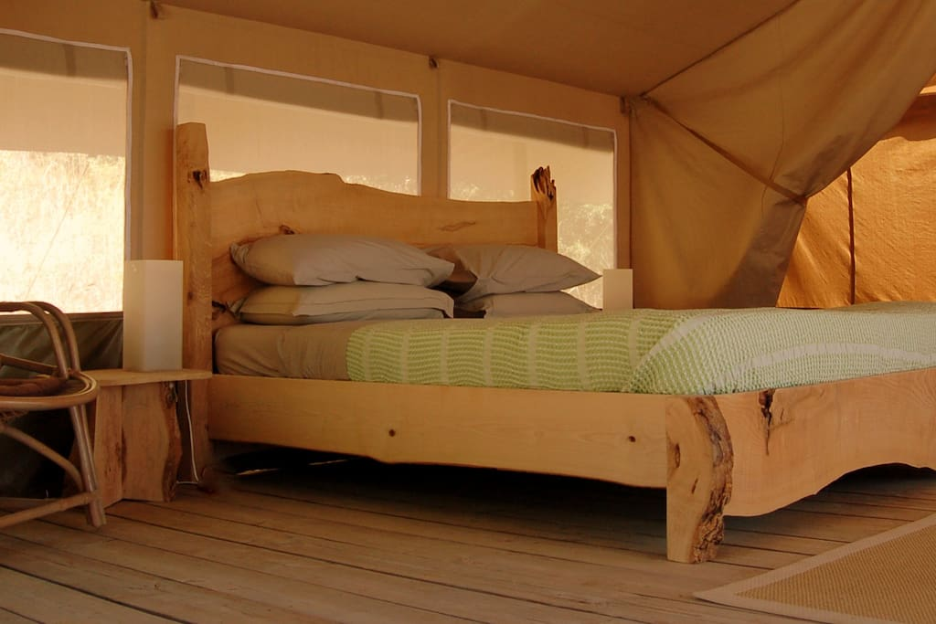 Handmade Emperor Size bed in Luxury Tent