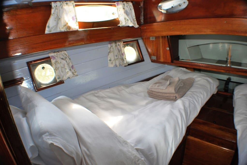 Port side front cabin - one of two beds