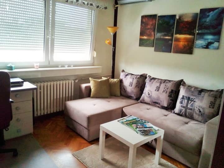 Bright and cozy room in the city centre