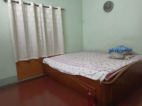 1 AC Private/Patient room with attached washroom is available with 43 inch TV, one wardrobe, Cooking Maid for 3 time food and a security Boy who will buy groceries for you and will be a night watcher to make your stay more secured.