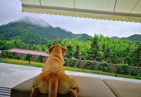 地暖--莫干山山景房-请勿直接下单-超大飘窗鸟瞰核心山景-坐落在莫干山半山腰-超大观星平台