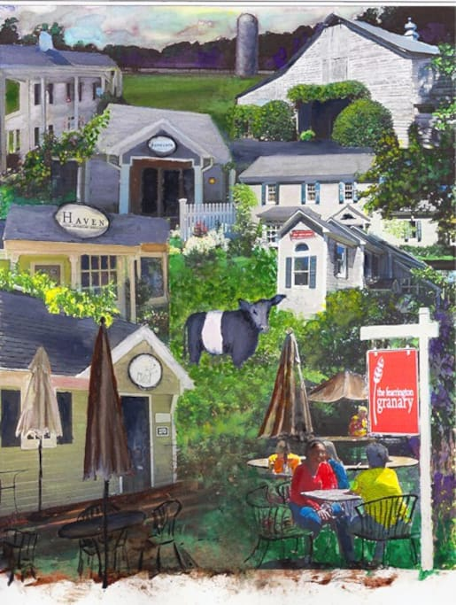 """Meet Me In Fearrington Village"" painting by Forrest"