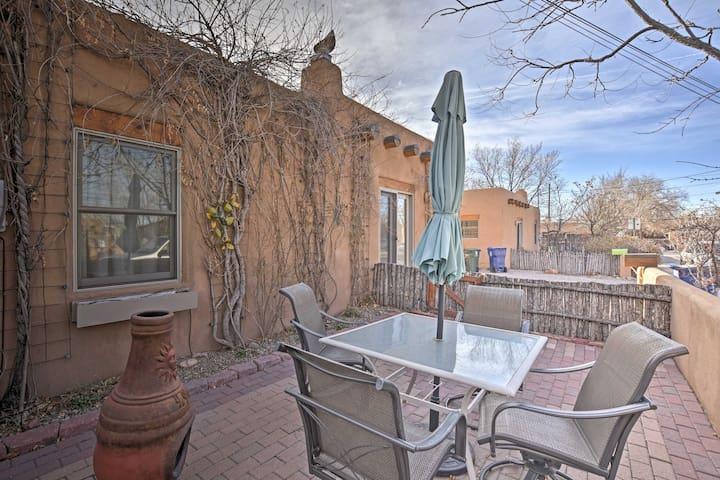 Enjoy an al fresco feast on the private patio.