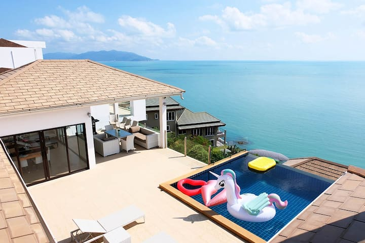 Luxury Villa with 180° panoramic sea view 中文服务