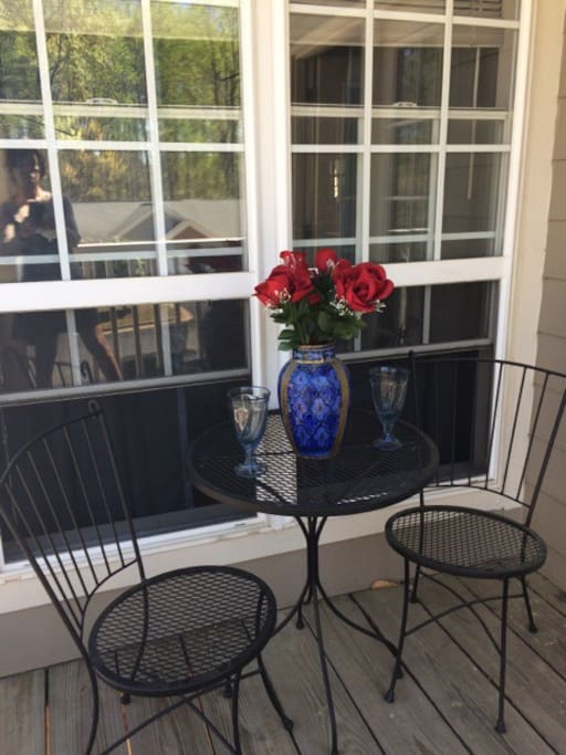 Enjoy the balcony patio which is a great place for breakfast or a simple cup of coffee!