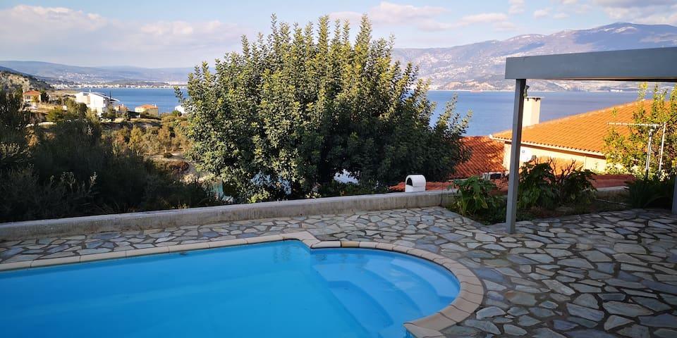 Volos 38m2 Seaview, swimming pool, terrace