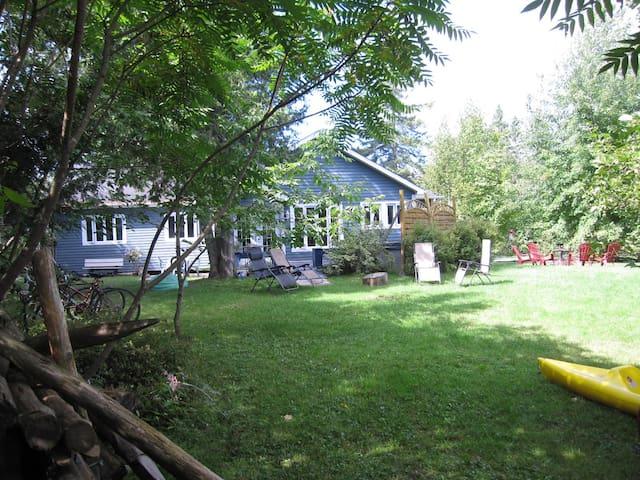 La maison Bleue du lac ( reservation d'été ) - Hatley - Dom