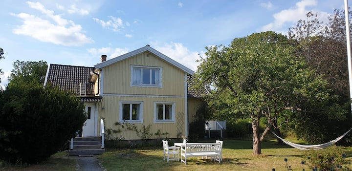 Yellow Wooden Farm House in Sweden