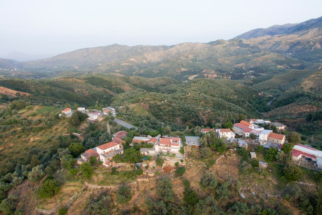 Panoramic view of the north part of the village...