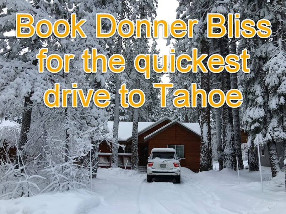 DONNER BLISS CABIN: Book now for #Snowmageddon. Best snow Tahoe has seen in years! Sleeps 8:  3 bdrm, 2 bath. Modern, high-end, hot tub, fire pit, wood stove. Ski. Snowboard. Skate. Sled. Snowshoe. Sugarbowl, Northstar, Squaw Valley, Boreal, Donner Ski Ranch. Boating. SUP paddleboarding. Reno shows & gambling 30 min drive. Pets welcome.  Pacific Crest trail #PCT. Wildflowers.  Hike. Bike. Swim.   We welcome you & your family/friends: Reunions, road trips, military, LGBT, and traveling nurses and doctors.