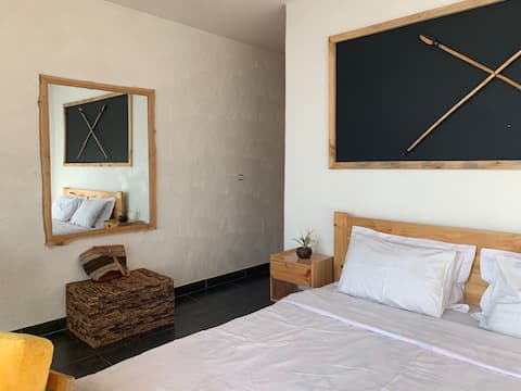 Dormitorio principal del Eagle View Lodge