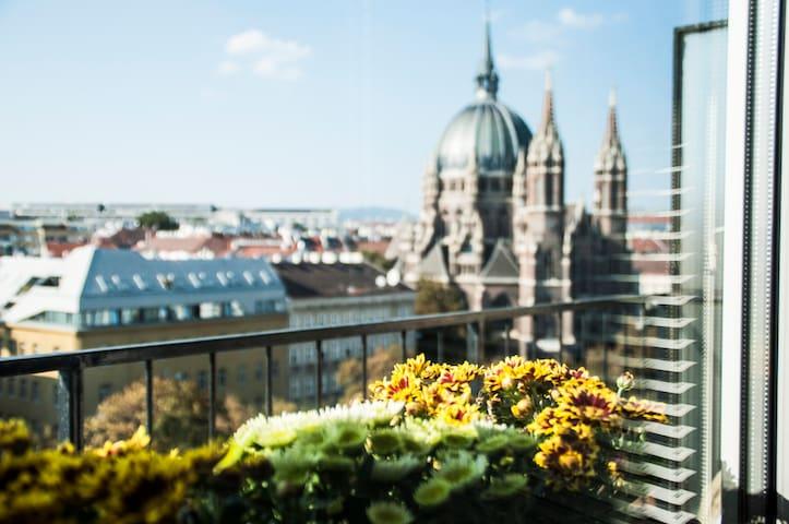 Stunning Views Studio With Balcony-Prime Location