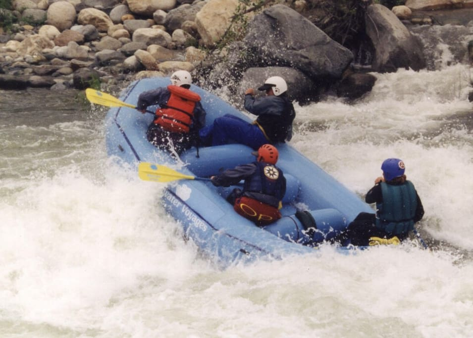 Thrilling whitewater rafting on the steepest river in the USA that runs right through the middle of town.