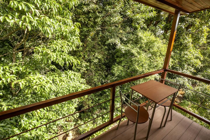Private Balcony with Tree Top Views.