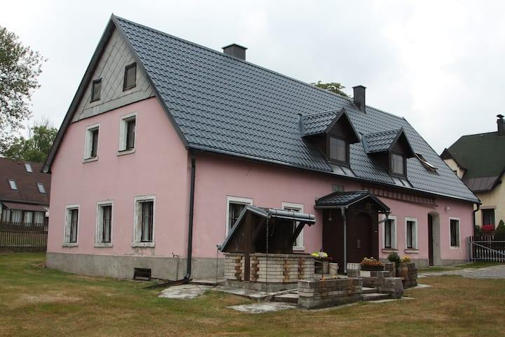 Cottage in Tisá in landscape of Czech Switzerland